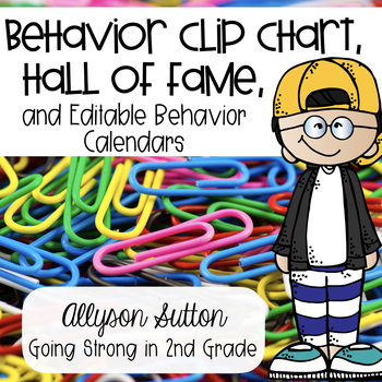 Behavior Clip Chart with Behavior Hall of Fame & Monthly B