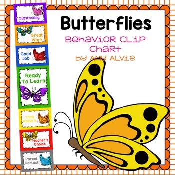 Behavior Clip Chart - Behavior Management - BUTTERFLY 2