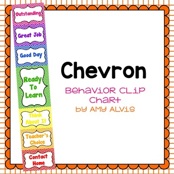 Behavior Clip Chart - Behavior Management - Chevron 3