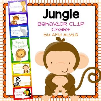 Behavior Clip Chart - Behavior Management - JUNGLE ANIMALS 5