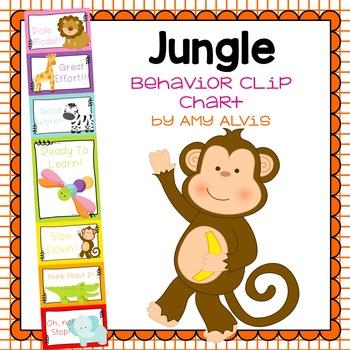 Behavior Clip Chart - Behavior Management - JUNGLE ANIMALS 6