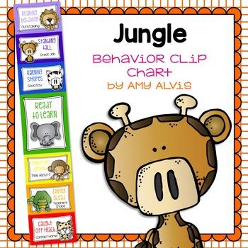 Behavior Clip Chart - Behavior Management - JUNGLE - SAFAR