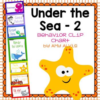 Behavior Clip Chart - Behavior Management - UNDER THE SEA 2