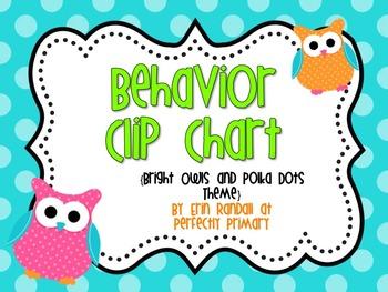 Behavior Clip Chart {Bright Owls Theme}