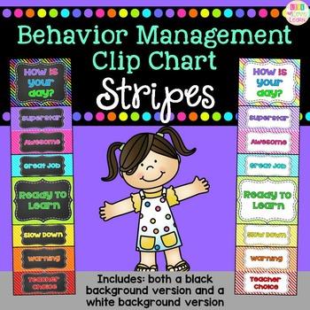 Behavior Clip Chart - Bright Stripes