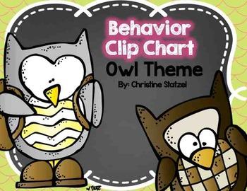 Behavior Clip Chart {Owl Theme}