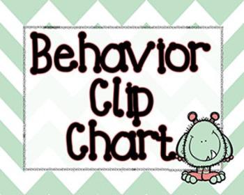 Behavior Clip Chart Bundle