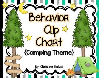 Behavior Clip Chart {Camping Theme}
