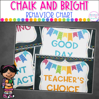 Behavior Clip Chart- Chalkboard Style