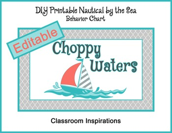 Behavior Clip Chart – Coordinates with Nautical by the Sea