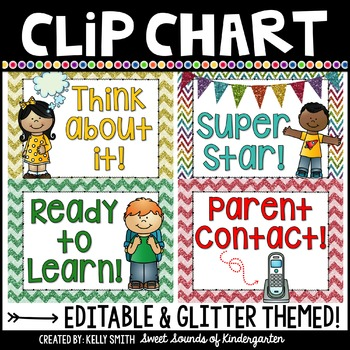 Behavior Clip Chart {Editable}