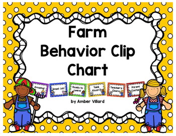 Behavior Clip Chart {Farm}
