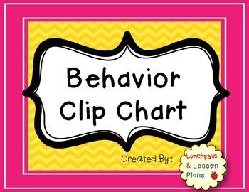Behavior Clip Chart Freebie!