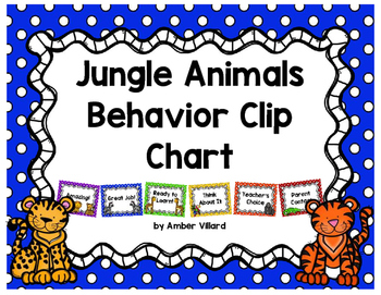 Behavior Clip Chart {Jungle Animals}