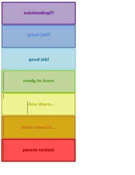 Behavior Clip Chart Mini