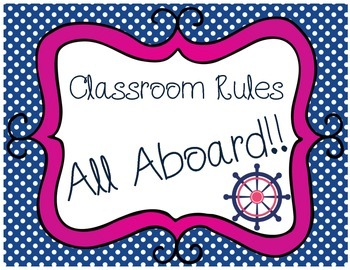 Behavior Clip Chart-Nautical Theme