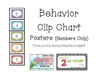 Behavior Clip Chart Numbers Only (1-5)