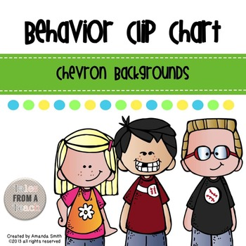 Behavior Clip Chart: Chevron Themed