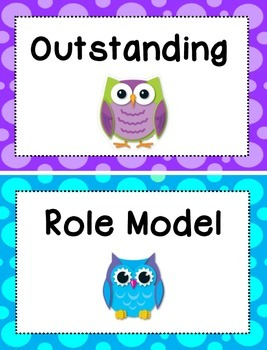 Behavior Clip Chart - Owls Theme