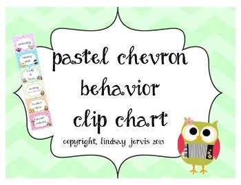 Behavior Clip Chart - Pastel Chevron