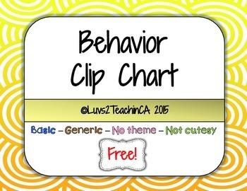 Behavior Clip Chart Plain and Simple {Freebie!}