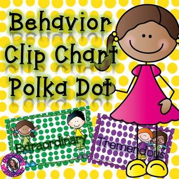 Behavior Clip Chart: Polka Dot
