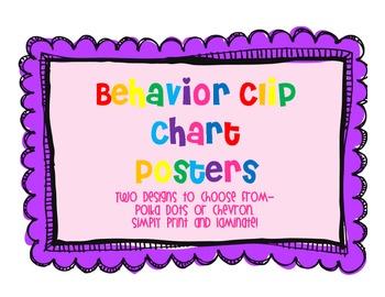 Behavior Clip Chart Posters
