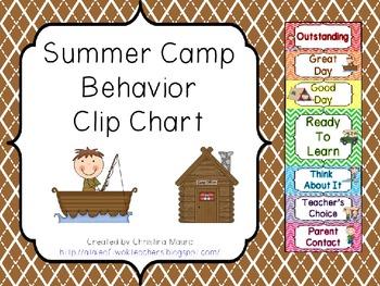 Behavior Clip Chart - Summer Camp