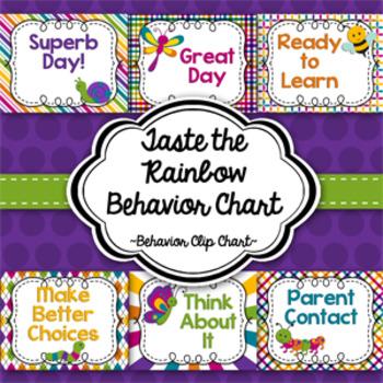Behavior Clip Chart-Taste the Rainbow!