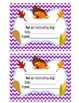 Behavior Clip Chart - Thanksgiving chevron