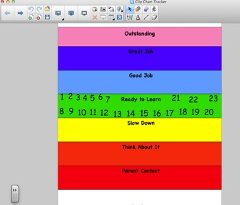 Behavior Clip Chart Tracker Notebook