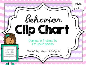 Behavior Clip Chart {Waves}