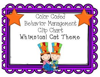 Behavior Clip Chart - Whimsical Cat Theme