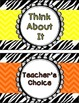 Behavior Clip Chart - Zebra Chevron Theme