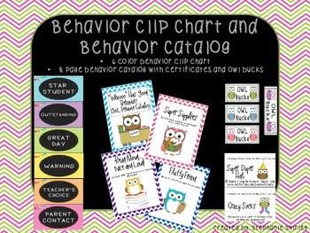 Behavior Clip Chart and Behavior Catalog