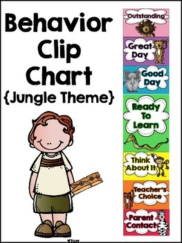 Behavior Clip Chart and Monthly Calendars {Jungle Theme}