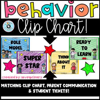 Behavior Clip Chart and Sheet