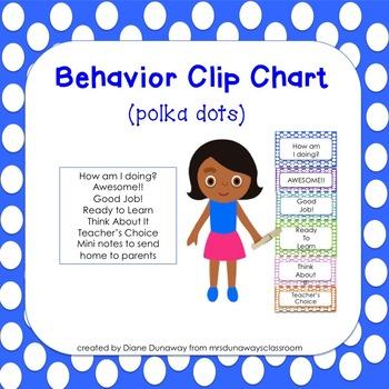 Behavior Clip Chart (polka dots)