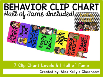 Behavior Clip Chart with Hall of Fame