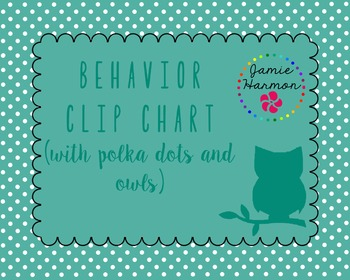 Behavior Clip Chart with Owls and Polka Dots