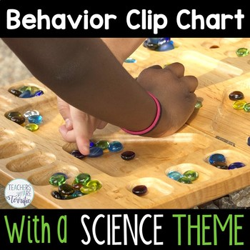 Behavior Clip Chart featuring a Science Theme
