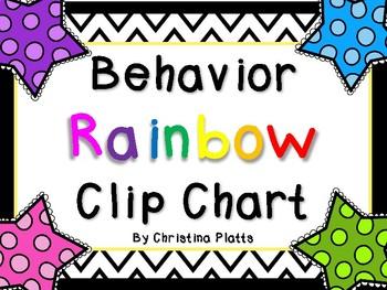 Behavior Clip Chart~Rainbow