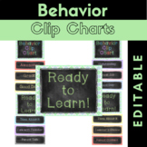 Behavior Clip Charts {Editable} Chalkboard Theme