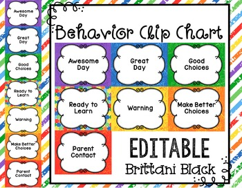 Behavior Clip Chart~ Editable