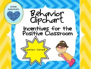 Behavior Clipchart: Superheroes Theme