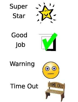 Behavior Clothes Pin Chart