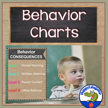 Behavior Posters -  Consequences - Burlap and Chalkboard