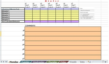 Behavior Contract - Excel