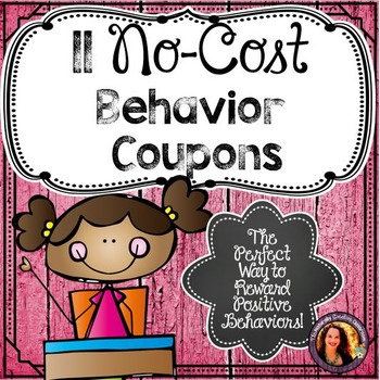 Behavior Coupons:  11 Reward Coupons