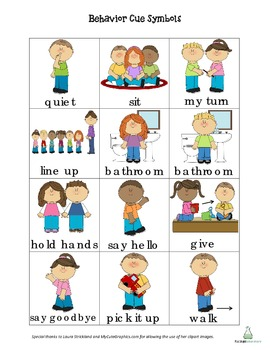 Behavior Cue Cards - English & Spanish